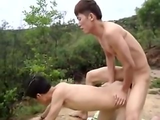 chinese, hawt, homo, sex, outdoors,