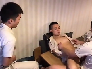 boys, chinese, work, threesome, ,